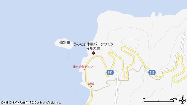 大分県津久見市四浦2218周辺の地図