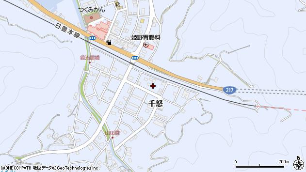 大分県津久見市千怒7426周辺の地図