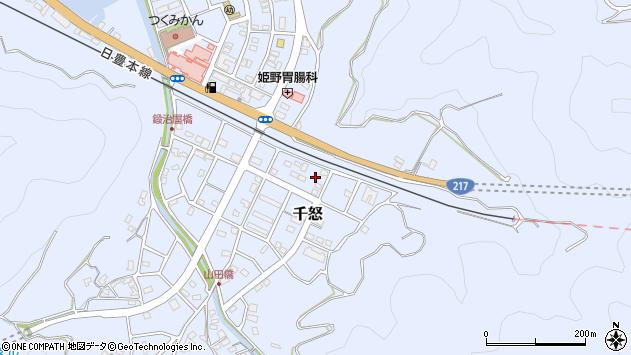 大分県津久見市千怒7417周辺の地図