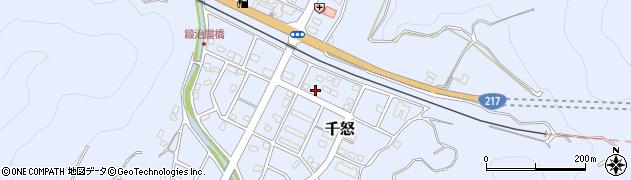 大分県津久見市千怒7439周辺の地図