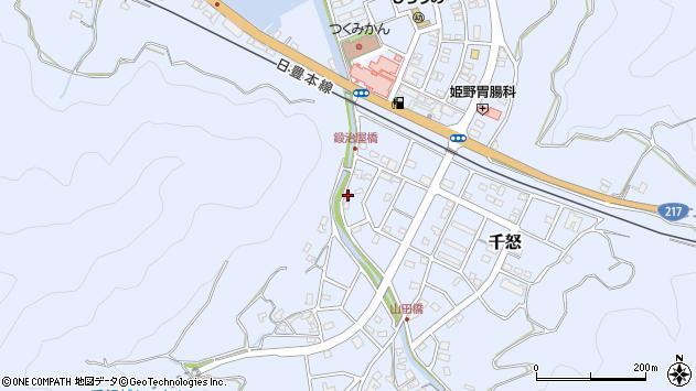 大分県津久見市千怒7120周辺の地図