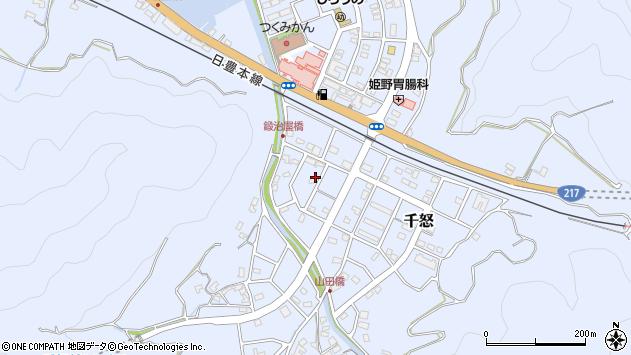大分県津久見市千怒7170周辺の地図