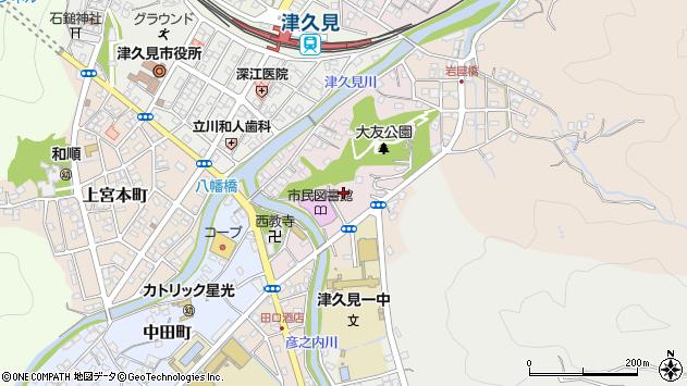 大分県津久見市大友町6周辺の地図