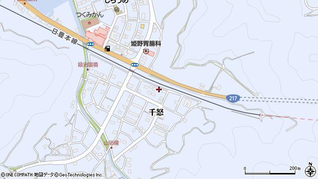 大分県津久見市千怒7423周辺の地図