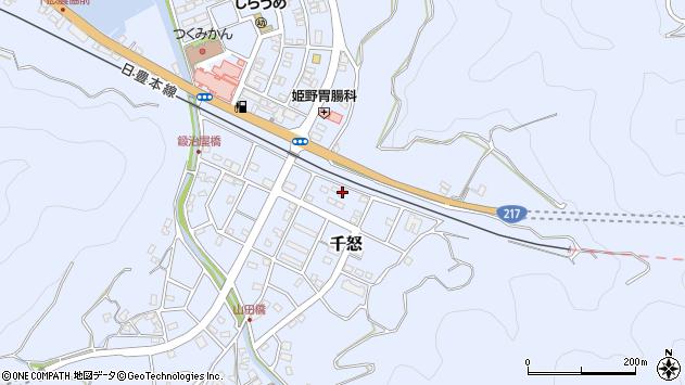 大分県津久見市千怒7428周辺の地図