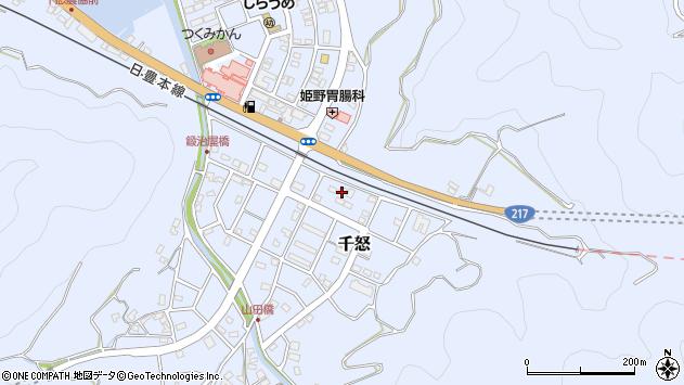 大分県津久見市千怒7430周辺の地図