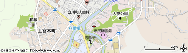 大分県津久見市大友町2周辺の地図