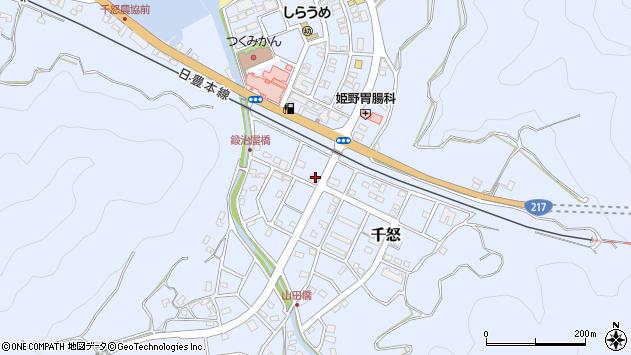 大分県津久見市千怒7161周辺の地図