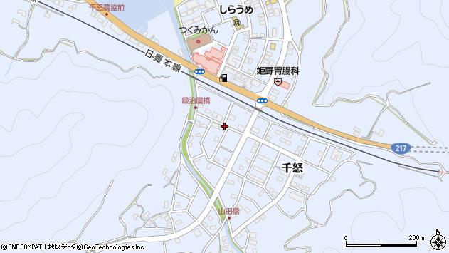 大分県津久見市千怒7172周辺の地図