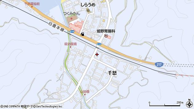 大分県津久見市千怒7455周辺の地図