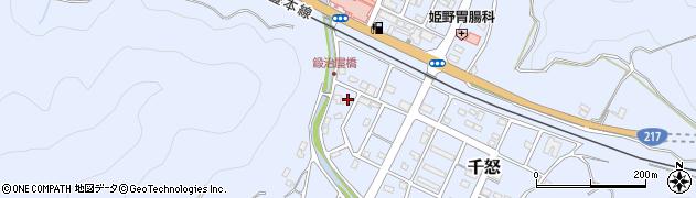 大分県津久見市千怒7128周辺の地図