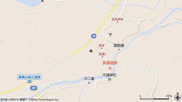 大分県竹田市直入町大字長湯7599周辺の地図
