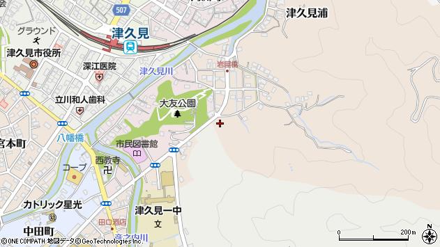 大分県津久見市岩屋町10周辺の地図