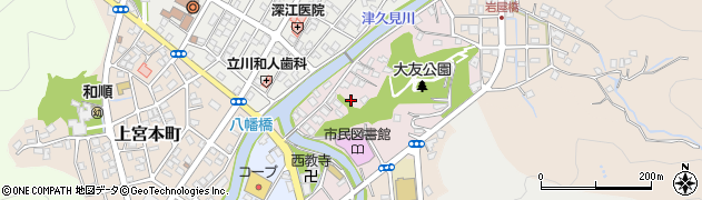 大分県津久見市大友町7周辺の地図