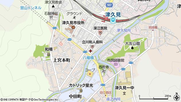 大分県津久見市宮本町5周辺の地図