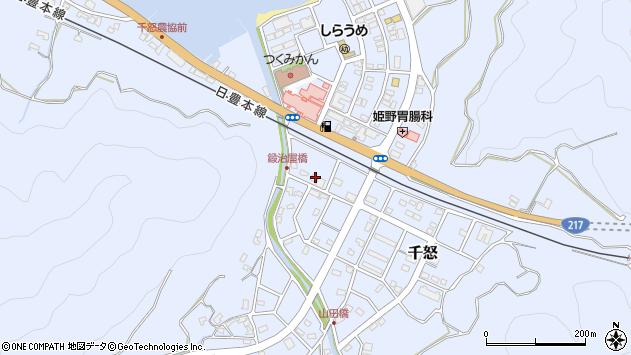 大分県津久見市千怒7143周辺の地図