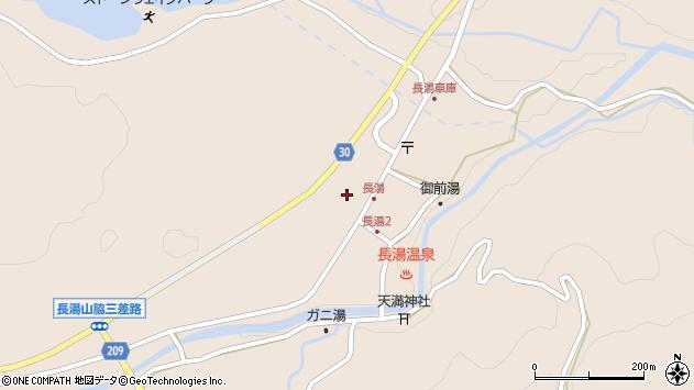 大分県竹田市直入町大字長湯8037周辺の地図