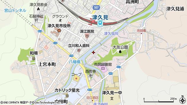 大分県津久見市大友町1周辺の地図
