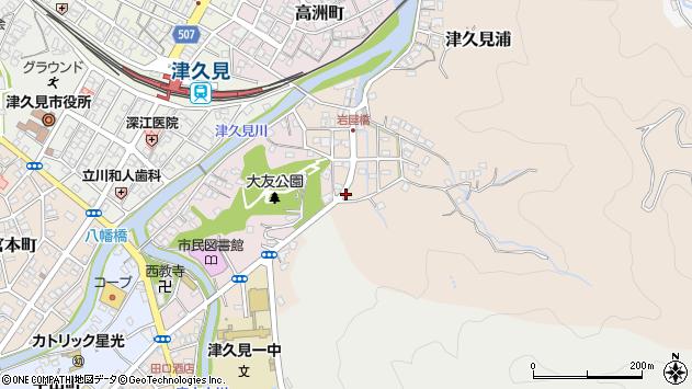 大分県津久見市岩屋町6周辺の地図