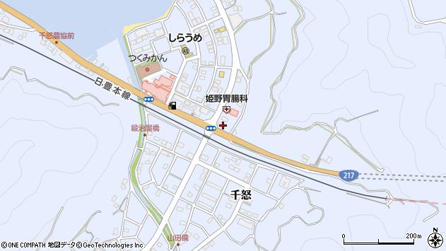 大分県津久見市千怒6033周辺の地図
