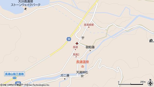 大分県竹田市直入町大字長湯周辺の地図