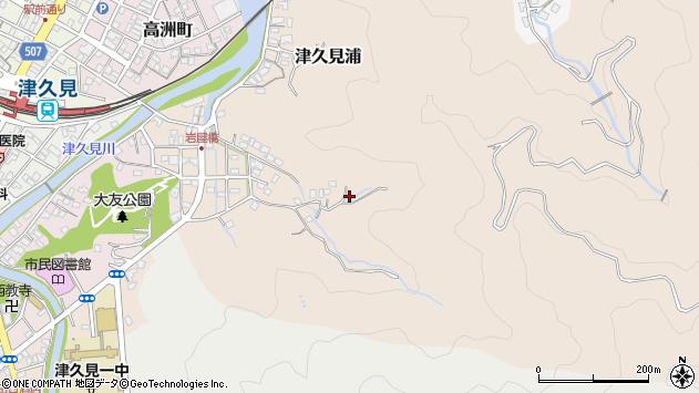 大分県津久見市津久見浦2576周辺の地図