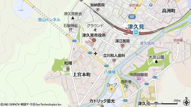大分県津久見市宮本町17周辺の地図