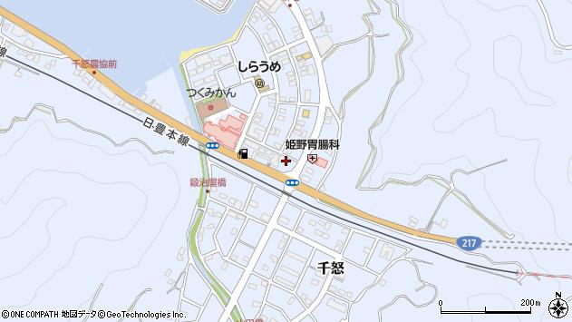 大分県津久見市千怒6029周辺の地図