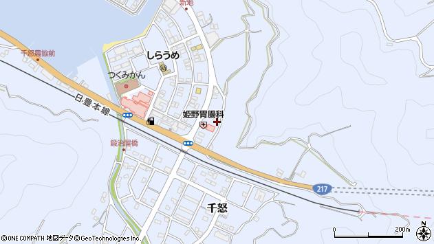 大分県津久見市千怒6044周辺の地図