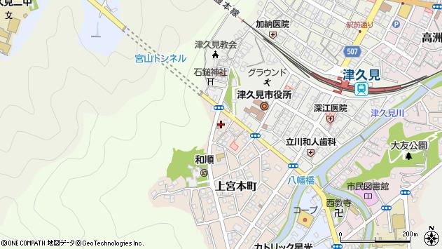 大分県津久見市上宮本町24周辺の地図