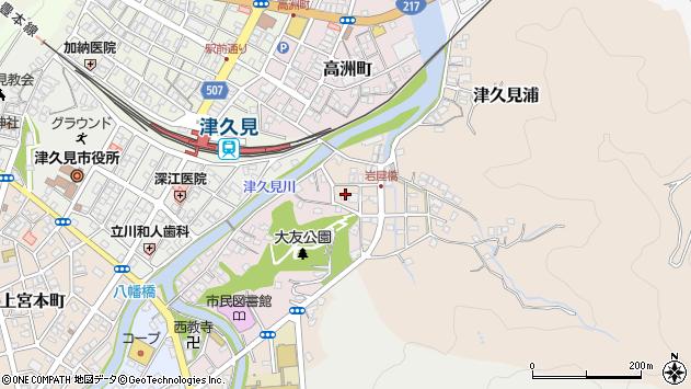 大分県津久見市岩屋町3周辺の地図