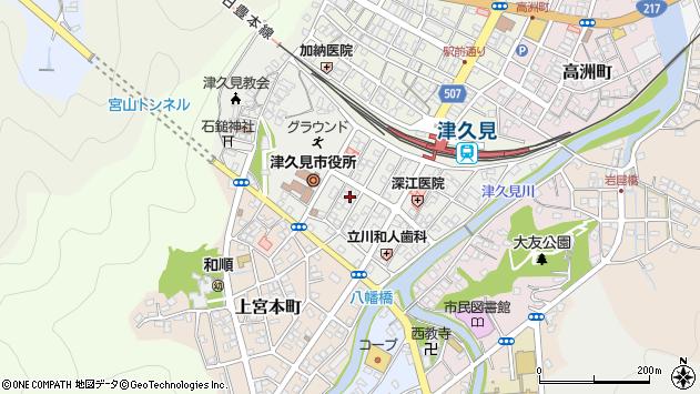 大分県津久見市宮本町16周辺の地図