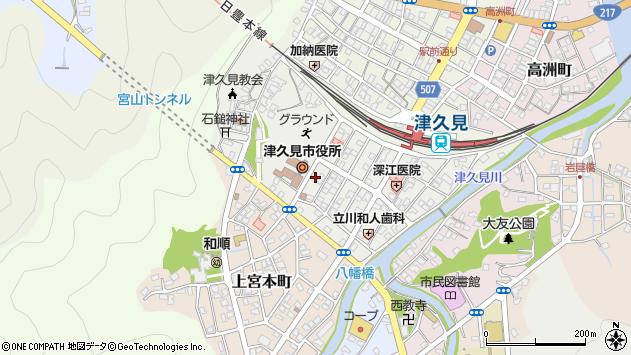 大分県津久見市宮本町18周辺の地図