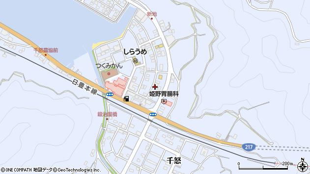 大分県津久見市千怒6072周辺の地図