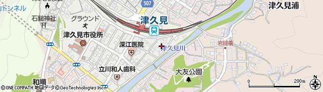 大分県津久見市宮本町2周辺の地図