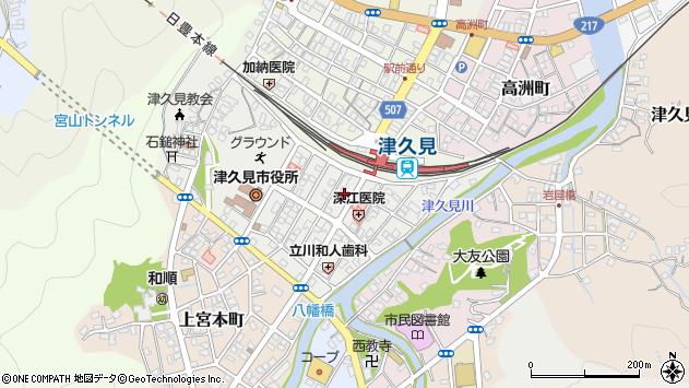 大分県津久見市宮本町10周辺の地図