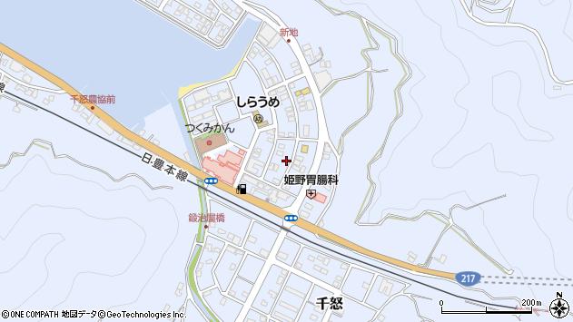 大分県津久見市千怒6083周辺の地図