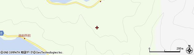 大分県津久見市網代江ノ浦周辺の地図