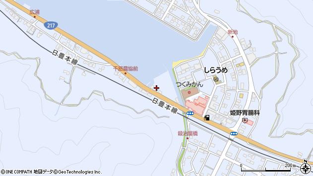 大分県津久見市千怒2周辺の地図