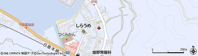 大分県津久見市千怒6202周辺の地図