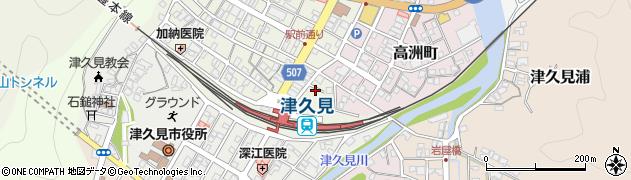 大分県津久見市中央町9周辺の地図