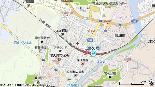 大分県津久見市中央町2周辺の地図