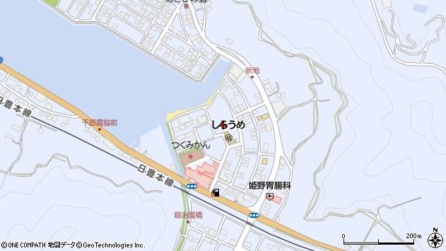 大分県津久見市千怒新地周辺の地図