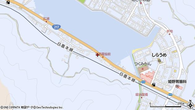 大分県津久見市千怒434周辺の地図