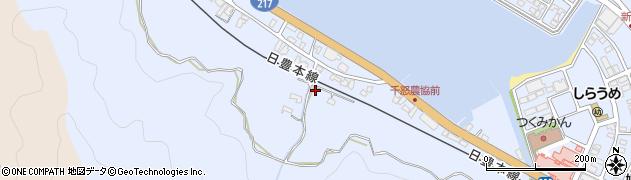 大分県津久見市千怒359周辺の地図