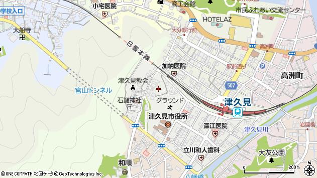 大分県津久見市宮本町23周辺の地図