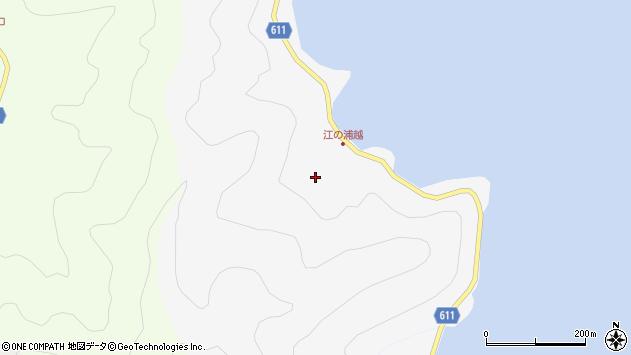 大分県津久見市四浦江ノ浦越周辺の地図
