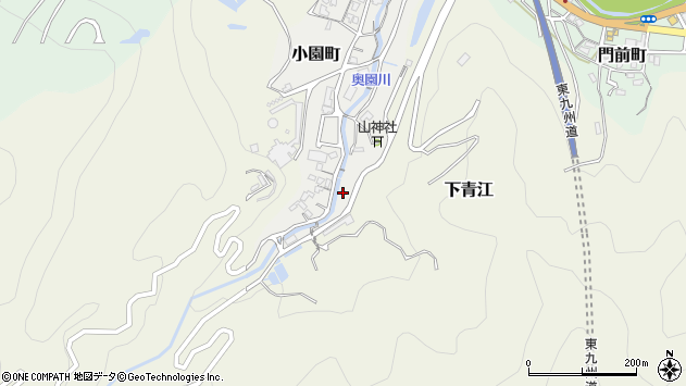 大分県津久見市小園町9周辺の地図