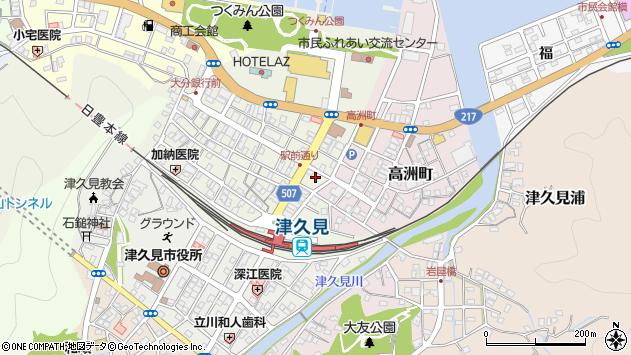 大分県津久見市中央町19周辺の地図