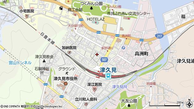 大分県津久見市中央町10周辺の地図